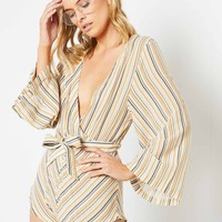 Austin Playsuit - 70S Stripe