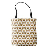 Golden Crown All-Over-Print Tote Bag
