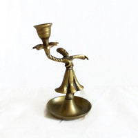 Whirling dervish vintage brass candlestick, Sufism, chamberstick, Islamic mysticism, candelabrum, Middle Eastern home decor, Sufi Muslim zen