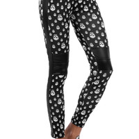 Skull Print Leggings