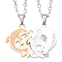 Matching Dolphin Necklaces for Couples