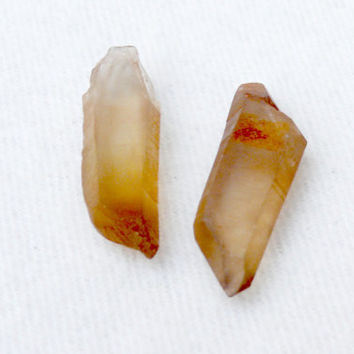 Natural Citrine quartz crystall 30mm from Kongo-Rough points-Joy-Abundance-Creativity