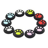 Super Cat-pad Style Thumb Grip Stick Covers for XBOX 360 / XBOX ONE / PS4 / PS3 / PS2 Controller, Made of Silicone Rubber, Pack of 10pc
