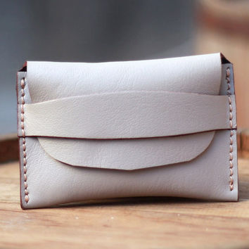Women Wallets / Leather Wallet / White Wallet / Handmade Wallet / Wallets Bags Purses - Birthday Gift - Bridesmaids Gifts - Women's Wallets