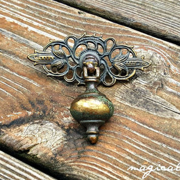Vintage Drawer Pull Pendant Dresser Pull KBC Dresser Drawer Pull Brass Drawer Pull Antique Drawer Pull Decorative Drawer Pulls Drawer Knobs