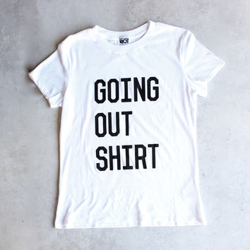 sub_urban riot - going out loose crew neck tee - white