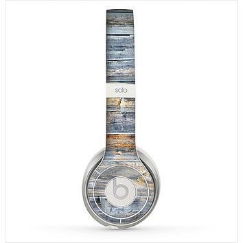 The Vintage Wooden Planks with Yellow Paint Skin for the Beats by Dre Solo 2 Headphones