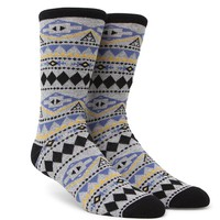 On The Byas Hallows Tribal Crew Socks - Mens Socks - Gray - One