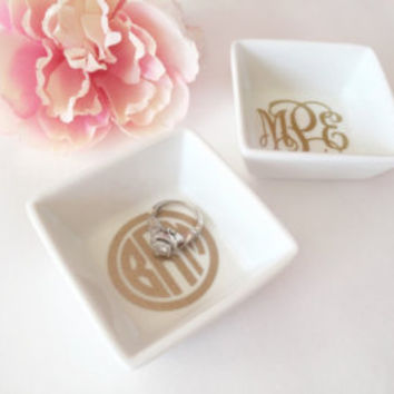 Monogram Ring Dish | Monogram Jewelry Dish | Ring Dish | Personalized