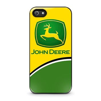 john deere 2 iphone 5 5s se case cover  number 1