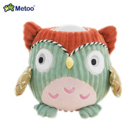 New Metoo Plush Toy with Pat Lamp Cartoon Owl Soft light Dolls with Baby' Sleeping for