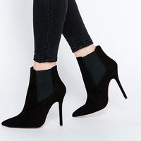 New Look Premium Suede Heeled Boot with Pointed Toe