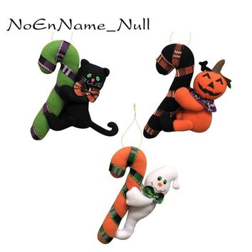 Halloween Decoration Plush Dolls Pumpkin Witchghost Ghost Cat Small Hanging Ornaments Kids Gifts Hotel Bar Indoor Outdoor Decor