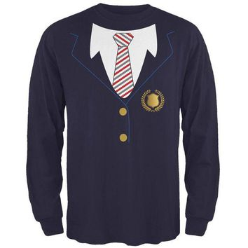 CUPUPWL Halloween American School Girl Costume Mens Long Sleeve T Shirt