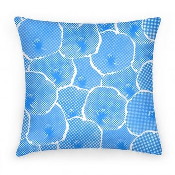 Blue Poppy Flower Pattern