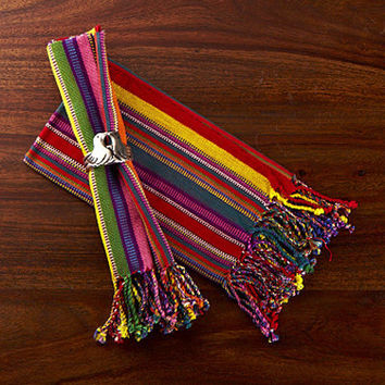 Fair Trade Napkins Mayan design Set2 Fiesta Stripes : Kitchen & Dining: WorldofGood.com by eBay