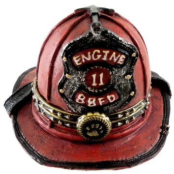 Boyds Bears Resin Firefighter Mcbruin's Helmet Figurine