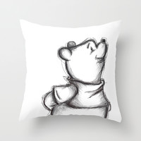 Insightful Pooh Throw Pillow by Makayla Newberry