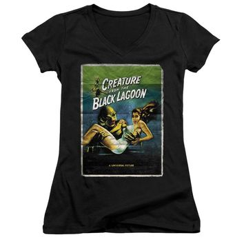 Creature from the Black Lagoon Juniors V-Neck Movie Poster Black