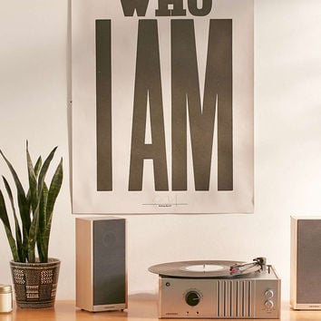 Anthony Burrill This Is Who I Am Letterpress Poster - Urban Outfitters