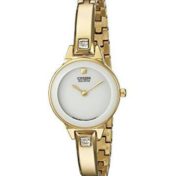 "Citizen Women's EX1322-59A ""Silhouette"" Stainless Steel Swarovski Crystal-Accented Eco-Drive Watch"