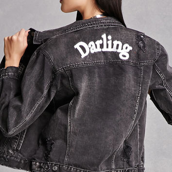 Darling Embroidered Denim Jacket