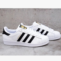 """Adidas"" Fashion Shell-toe Flats Sneakers Sport Shoes White Black Golden High quality"