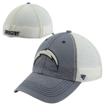 47 Brand San Diego Chargers Caprock Canyon Flex Hat - Natural Navy Blue