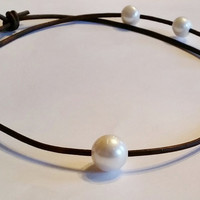 Freshwater Pearl Choker/Necklace, wear 3 Lengths!
