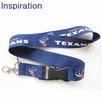 Houston Texans Football Team Necklace Lanyard Neck Strap For ID Pass Card Badge Gym Key Mobile Phone USB Holder Lanyard Necklace