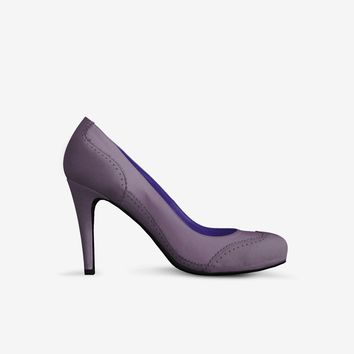 Levi Thang British High Heel Italian Leather Suede Violet