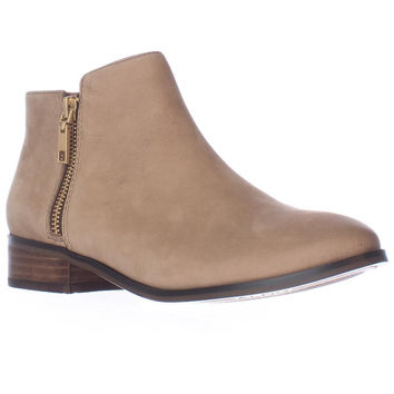 Aldo Julianna Side Zip Ankle Boots - Medium Brown