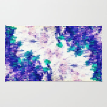 Purple and Teal Dreams Area & Throw Rug by 2sweet4words Designs | Society6