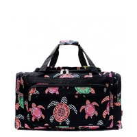 "23"" Black Sea Turtle Pattern Duffle Bag - Endless Xpressions"