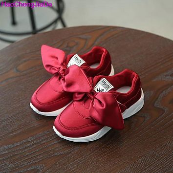 Kids Shoes with Bow Fashion Sneaker Shoes Girls
