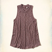 Ribbed Mock Neck Cami