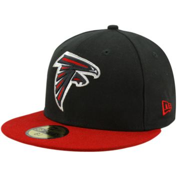 New Era Atlanta Falcons Two-Tone 59FIFTY Fitted Hat - Black/Red