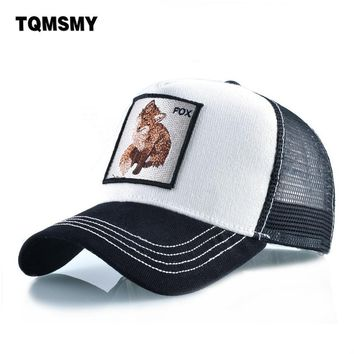 Trendy Winter Jacket Cotton Snapback caps for men Embroidery Fox Baseball Cap Women's Breathable Mesh Trucker Hat Unisex Patch Hip Hop Bone Casquette AT_92_12