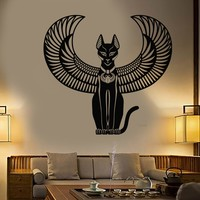 Vinyl Wall Decal Bastet Ancient Egyptian Cat Goddess Of Egypt Stickers (2207ig)