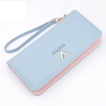Genuine Leather Wallet for Women Female Coin Purse High Quality Wallets Big Travel Zipper Women's Purse Ladies Long Phone Holder