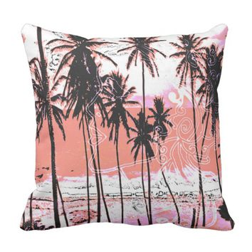 Pink Dreams Beach Theme Tropical Pillow