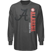 Alabama Crimson Tide Low Tone Long Sleeve T-Shirt – Charcoal