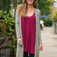 Thyme For A Change Cardigan, Olive