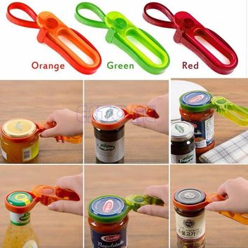 Free Shipping Container Bottle Lid Can Tin Cap Handy Travel Kitchen Plastic Jars Opener New GYH