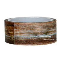 Retro style deep brown wood grain print pattern Washi Tapes (2cm x 5M)