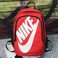 Nike Women Men Leather Satchel Travel Bag Bookbag Backpack