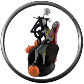 Jack And Sally In Chair Love Nightmare Before Christmas Jack Skellington 18MM - 20MM Charm for Snap Jewelry New Item