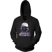Avenged Sevenfold Men's  AVS Spacehelmet P/O Hoodie Hooded Sweatshirt Black