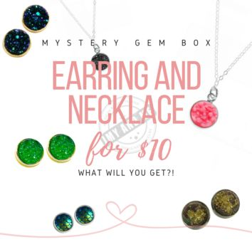 Necklace and Earrings Mystery Gem Box