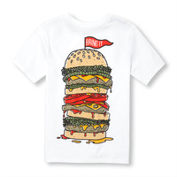 Boys Short Sleeve 'Bring it' Burger Graphic Tee | The Children's Place